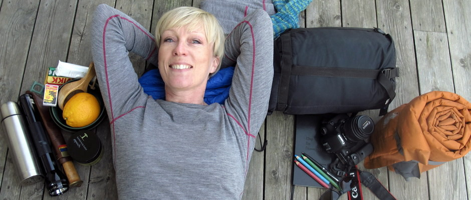 guide for å sove ute, teste utstyr, smilerynker, Kristin Daly