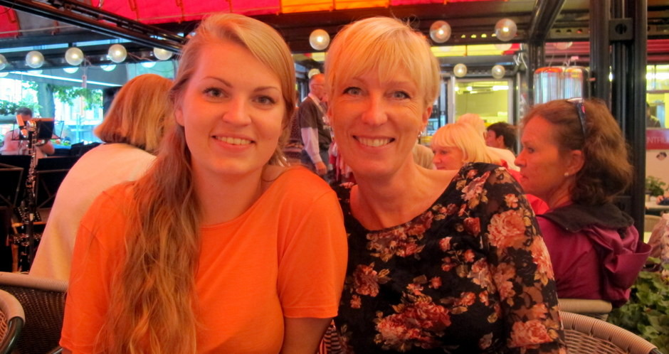 mor og datter, smilerynker