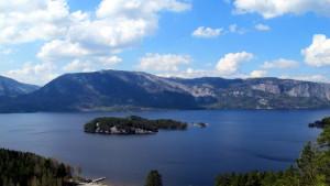 Nisser, åraksøya og fjella - fra Liaknatten