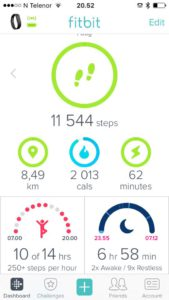 FitBit, helse, Smilerynker, dings