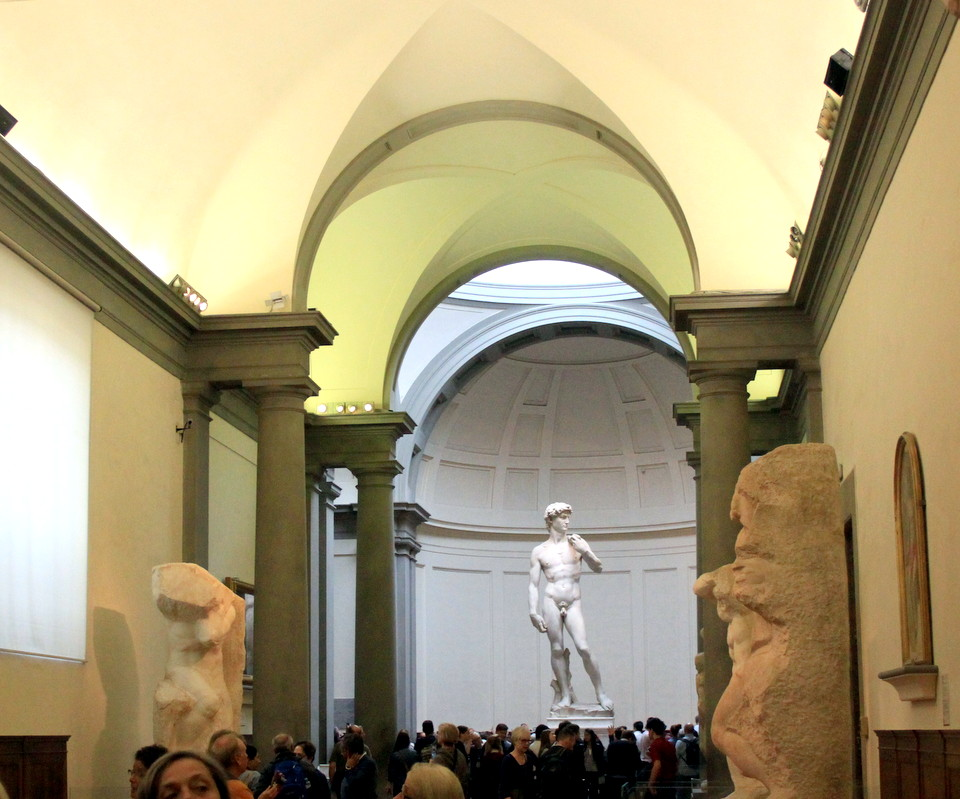 Den originale David av Michelangelo, accademia, Firenze