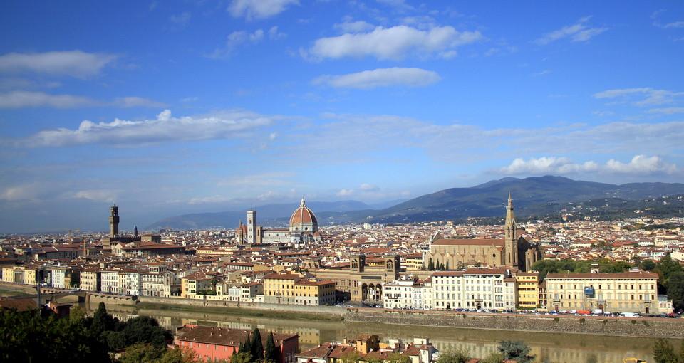 Firenze, utsikt, Italiaferie