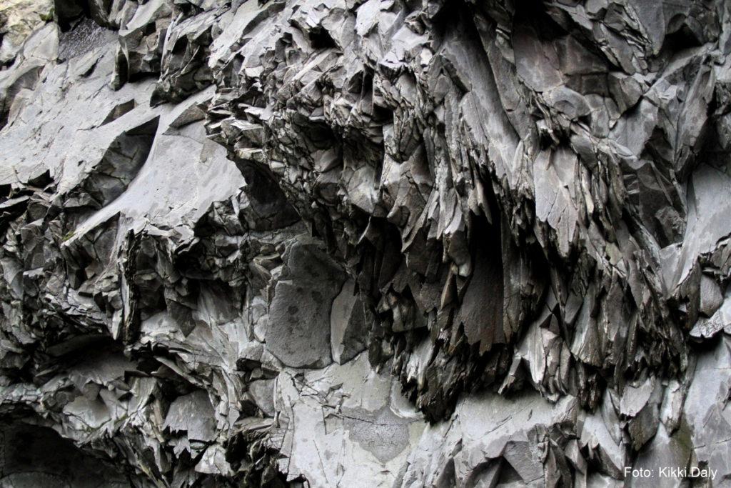 Island, Reynisfjara, svart stein, grotte, Kristin Daly