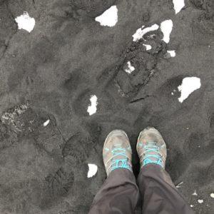 Island Jökulsárlón svart strand, Kristin Daly