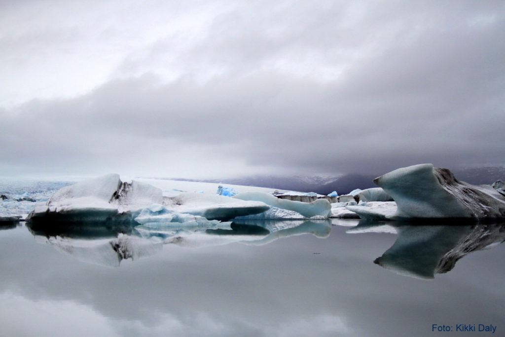 Island Jökulsárlón blå grå, Kristin Daly