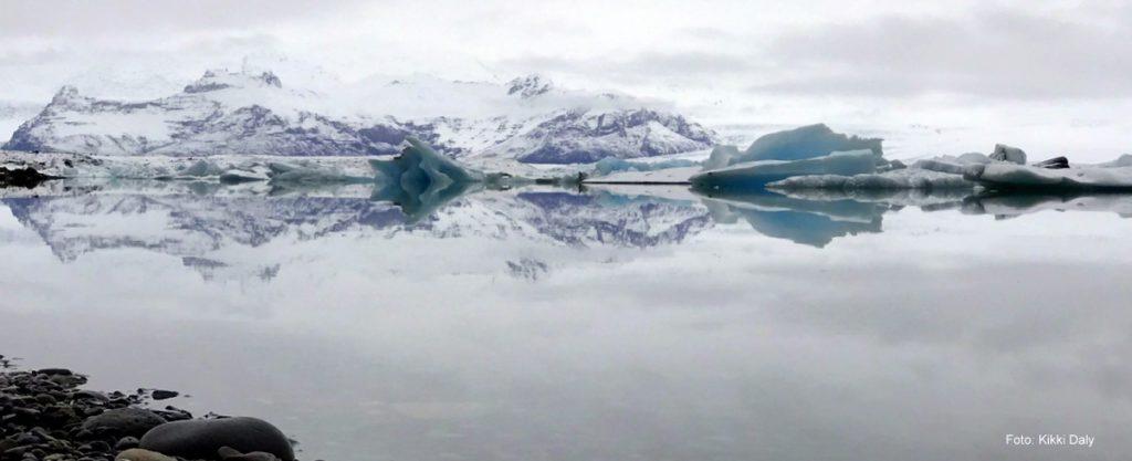 Island Jökulsárlón fjell bak