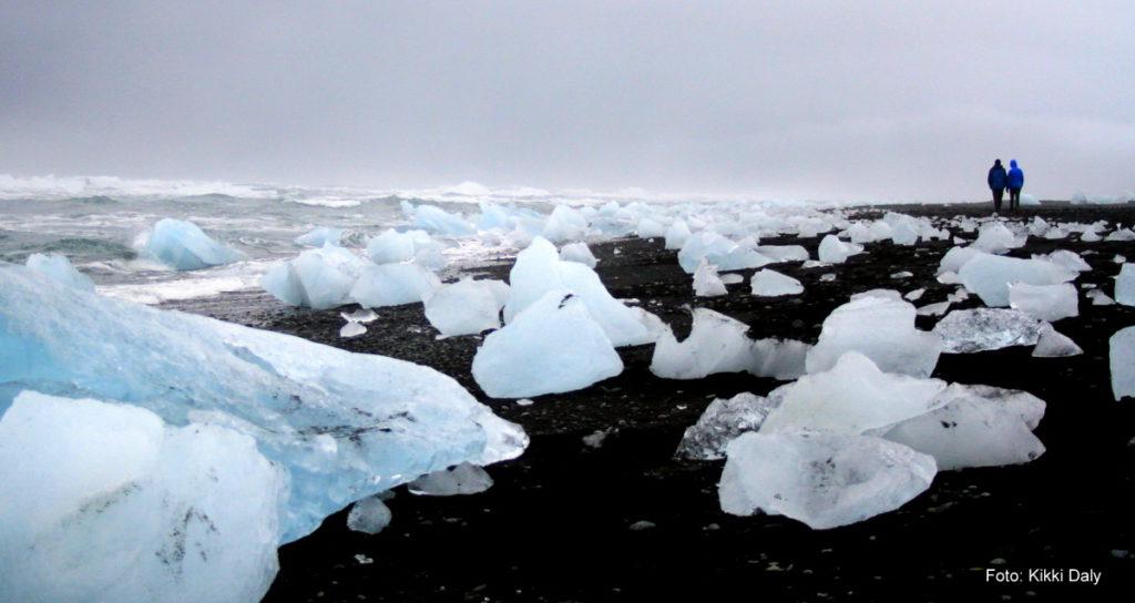 Island Jökulsárlón hav strand m folk, Kristin Daly