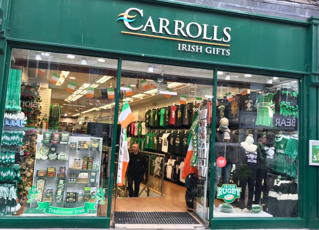 Carrolls irish gifts, Dublin, smilerynker.no, Kristin Daly