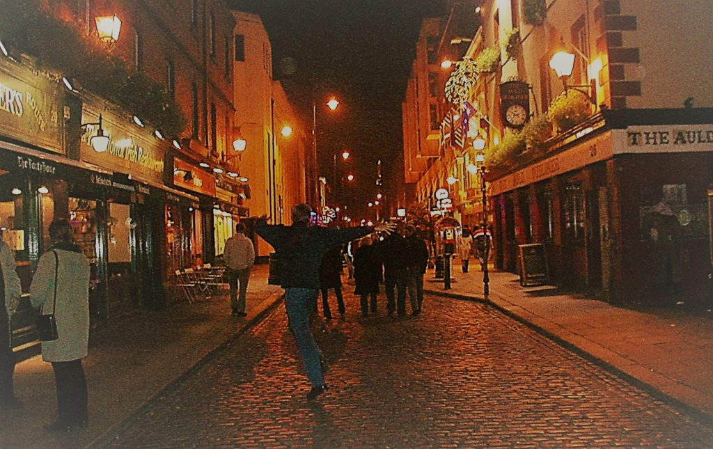 Dublin at night. temple Bar, smilerynker.no, Kristin Daly