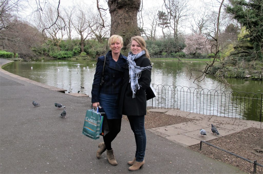Stephens Green, Dublin, smilerynker.no, Kristin Daly