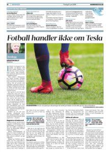 Fotball handler ikke om Tesla, Romerikes Blad, dugnad